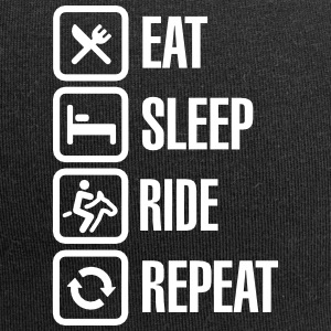 Eat sleeps horse ride repeat Caps & luer - Jersey-beanie
