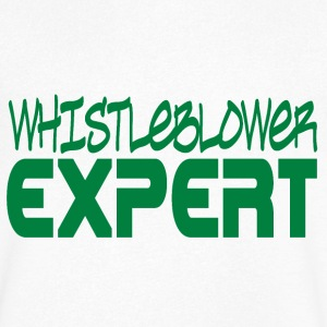 Whistleblower Expert T-Shirts - Men's V-Neck T-Shirt