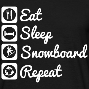 Eat,sleep,snowboard,repeat - Snowboarder t-shirt - Männer T-Shirt