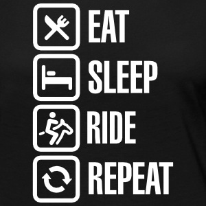 Eat sleep ride repeat Long Sleeve Shirts - Women's Premium Longsleeve Shirt