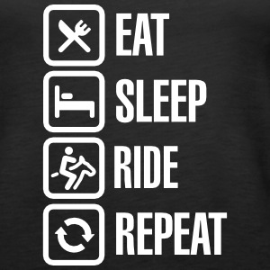 Eat sleep ride repeat Tops - Women's Premium Tank Top
