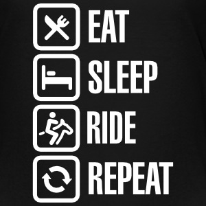 Eat sleeps horse ride repeat T-shirts - Premium-T-shirt tonåring