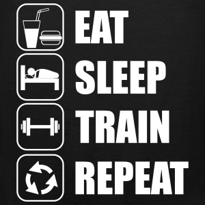 Eat,sleep,train,repeat Gym T-shirt - Canotta premium da uomo