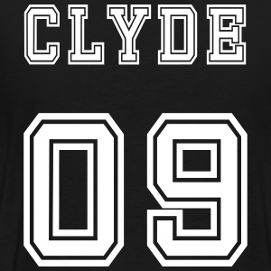 Valentine's Day Matching Couples Clyde Number - Herre premium T-shirt