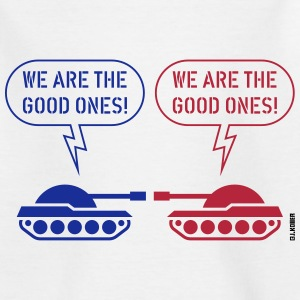 We are the good ones! (Tanks / War / Caricature) Shirts - Teenage T-shirt