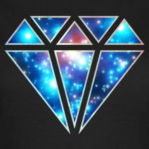 Diamond, galaxy style, diamant symbool, driehoek, T-shirts - Vrouwen T-shirt