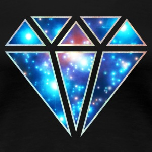 Diamond, galaxy style, space, diamant, triangel T-shirts - Premium-T-shirt dam