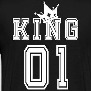 Valentine's Day Matching Couples King Jersey - Premium T-skjorte for menn