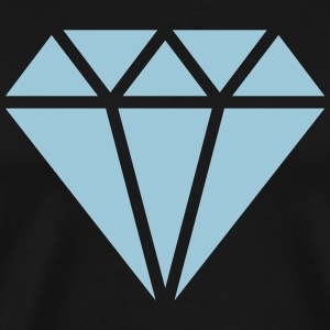 Diamond symbol, triangle, cubic, abstract, ever T-Shirts - Men's Premium T-Shirt