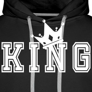 Valentine's Matching Couples King Crown Jersey - Premium hettegenser for menn