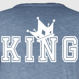Valentine's Matching Couples King Crown Jersey - Men's Vintage T-Shirt