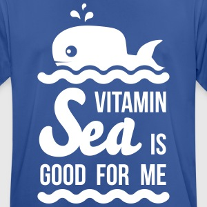 Vitamin-sea is good for me Welle Meer Strand Wal T-Shirts - Men's Breathable T-Shirt