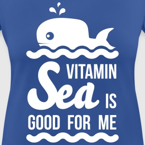 Vitamin-sea is good for me Welle Meer Strand Wal Camisetas - Camiseta mujer transpirable