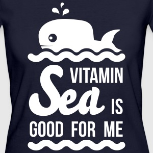 Vitamin-sea is good for me Welle Meer Strand Wal T-Shirts - Frauen Bio-T-Shirt