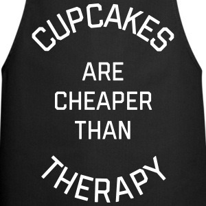 Cupcakes Cheaper Therapy Funny Quote Fartuchy - Fartuch kuchenny