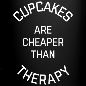 Cupcakes Cheaper Therapy Funny Quote Krus & tilbehør - Ensfarvet krus