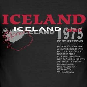 Iceland  T-Shirts - Männer Slim Fit T-Shirt