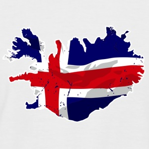 Iceland Flag Map T-Shirts - Männer Baseball-T-Shirt