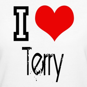 I Love Terry T-Shirts - Frauen Bio-T-Shirt