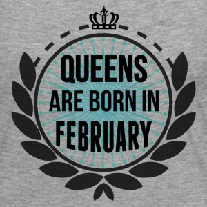 Queens Are Born In February Long Sleeve Shirts - Women's Premium Longsleeve Shirt