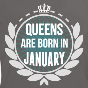 Queens Are Born In January T-Shirts - Women's Ringer T-Shirt