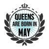 Queens Are Born In May Tops - Women's Premium Tank Top