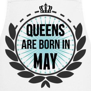Queens Are Born In May  Aprons - Cooking Apron