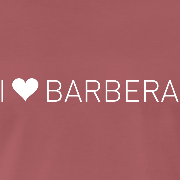 I Love Barbera - Premium T-skjorte for menn