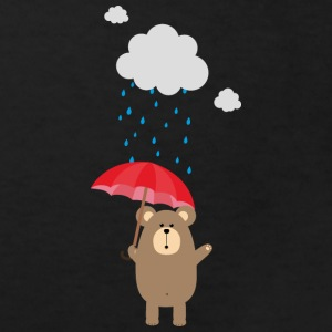 Brown bear with umbrella Shirts - Kids' Organic T-shirt