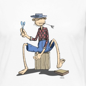 The Hillbilly monkey makes the rhythm Long Sleeve Shirts - Women's Premium Longsleeve Shirt