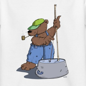 The Hillbilly bear plays bass guitar Shirts - Kids' T-Shirt