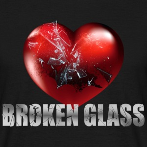 Broken Glass T-shirt with Heart - Herre-T-shirt