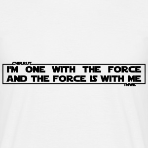 I am one with The Force and The Force is with me T-shirts - Herre-T-shirt