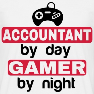 ACCOUNTANT BY DAY GAMER BY NIGHT T-Shirts - Men's T-Shirt