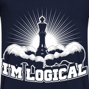 I'm logical T-shirts - Mannen T-shirt met V-hals
