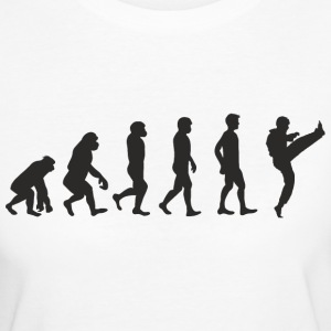 Evolution Karate T-Shirts - Frauen Bio-T-Shirt
