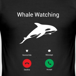 The whales call T-Shirts - Men's Slim Fit T-Shirt