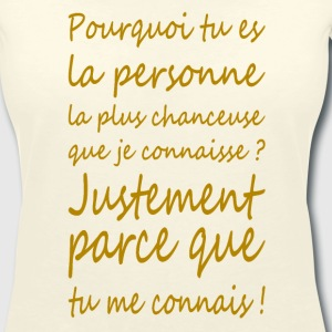 question de chance - T-shirt col V Femme