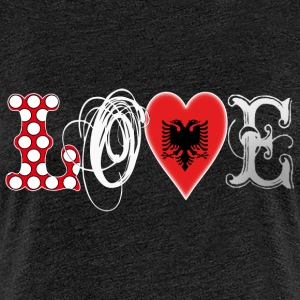Love Albania White T-Shirts - Frauen Premium T-Shirt