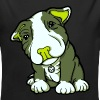 Pit Bull Terrier Puppy Greens - Longlseeve Baby Bodysuit