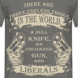 There are three useless things in the world a dull - Men's T-Shirt
