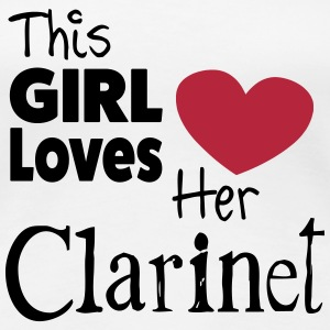 This Girl Loves Her Clarinet T-shirts - Dame premium T-shirt