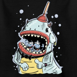 Monster mit Pömpel und Ohrring T-Shirts - Kinder T-Shirt