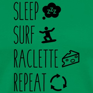 Sleep surf raclette repeat - T-shirt Premium Homme