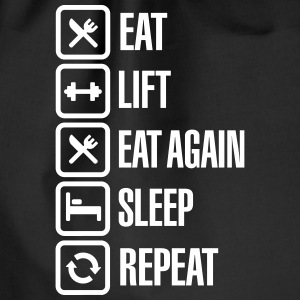Eat - Lift - Eat again - Sleep - Repeat Taschen & Rucksäcke - Turnbeutel
