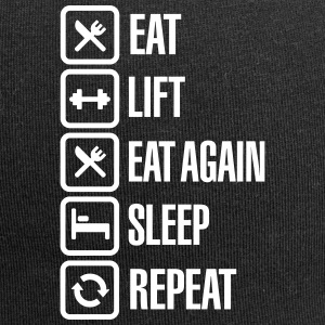 Eat - Lift - Eat again - Sleep - Repeat Petten & Mutsen - Jersey-Beanie