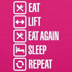 Eat - Lift - Eat again - Sleep - Repeat Tassen & rugzakken - Bio stoffen tas