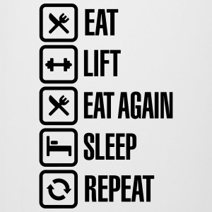 Eat - Lift - Eat again - Sleep - Repeat Bouteilles et Tasses - Chope