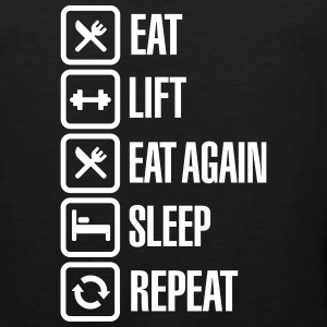 Eat - Lift - Eat again - Sleep - Repeat Sportkleding - Mannen Premium tank top