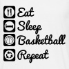 Eat,sleep,basketball,repeat Basket T-shirt - Camiseta hombre